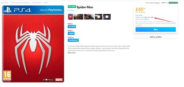 蜘蛛侠同名游戏PS4独占 2018年9月28日发售[多图]图片2