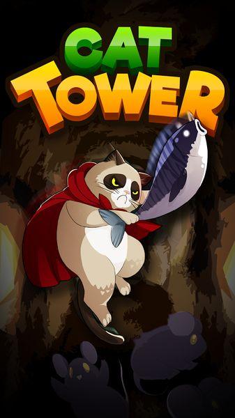 扑家猫咪之塔游戏安卓版下载(Cat Tower Idle RPG)图1: