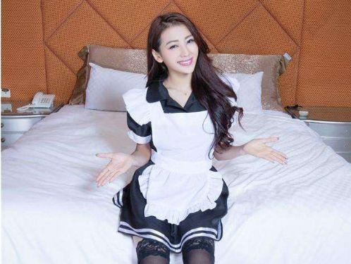 美女图片:美女女仆装私房照高清写真[多图]图片4