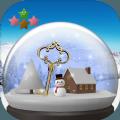 逃脱游戏雪球体和雪景游戏