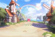 QQ飞车手游反向彩虹风车岛怎么跑最快?反向彩虹风�