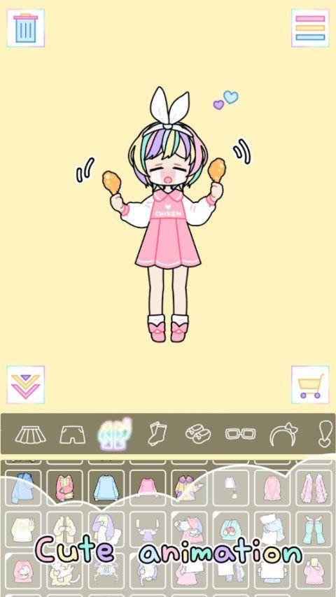 彩虹女孩Pastel Girl游戏安卓汉化版下载图1:
