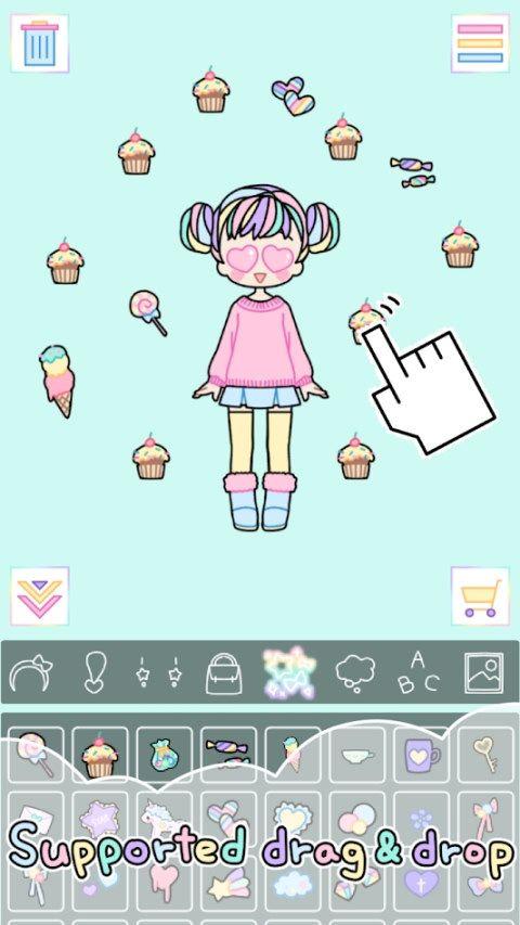 彩虹女孩Pastel Girl游戏安卓汉化版下载图5: