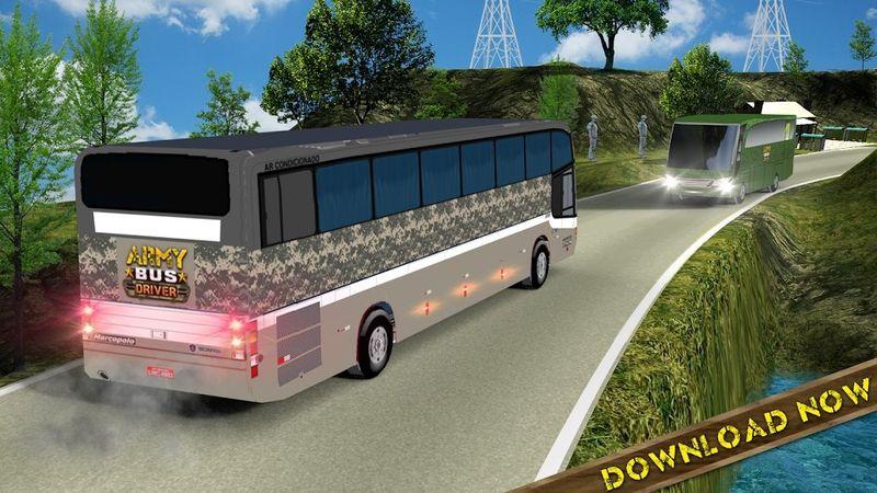 军队巴士模拟器2018手机游戏最新版下载图1: