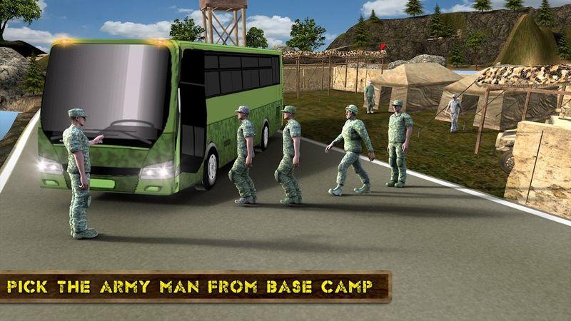 军队巴士模拟器2018手机游戏最新版下载图5: