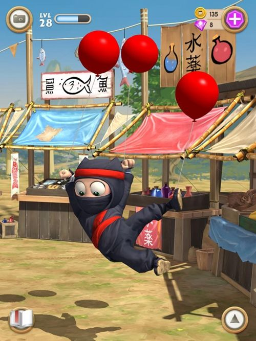 笨拙的忍者中文汉化版游戏下载(Clumsy Ninja)图4: