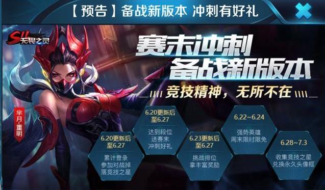 王者荣耀6月20日更新内容一览:赛季冲刺活动开启、英雄降价5000金币[多图]