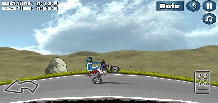 特技摩托挑战手机游戏最新安卓官方版下载地址(Wheelie Challenge)图1: