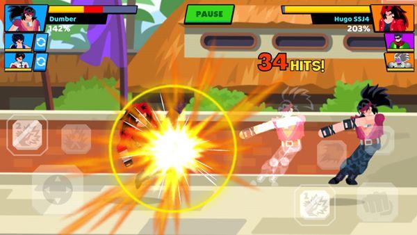 火柴人龙珠战士2游戏中文汉化破解版(Stick Warriors 2)图片3