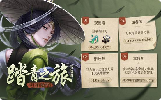 王者荣耀4月2日更新了什么内容?4月2日踏青之旅活动周开启[多图]