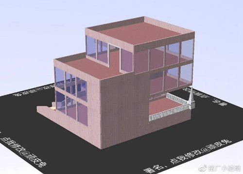明日之后落地窗别墅设计蓝图:豪华落地窗房子平面设计图图片9