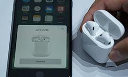 苹果新品AirPods耳机试玩 精致但容易丢失[多图]