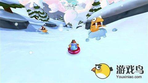 企鹅俱乐部滑雪赛评测 轻松的跑酷类游戏[多图]图片3