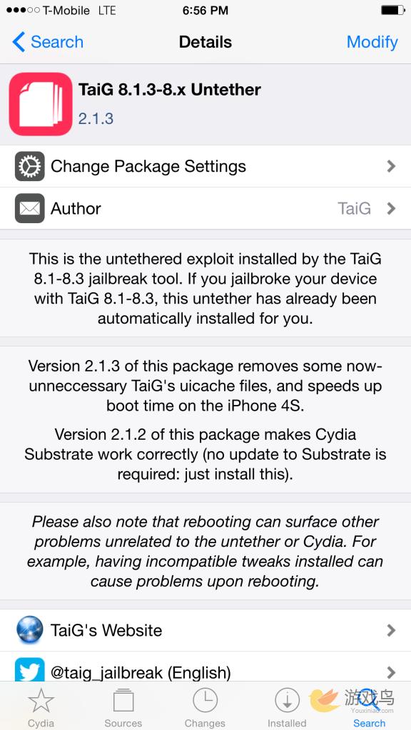 太极越狱V2.1.3更新包上架Cydia 不需重新越狱[多图]图片2