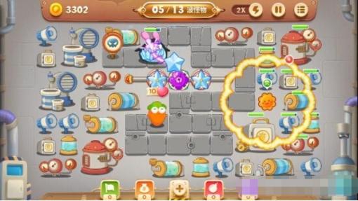 保卫萝卜3第15关工厂金萝卜怎么获取[多图]图片5