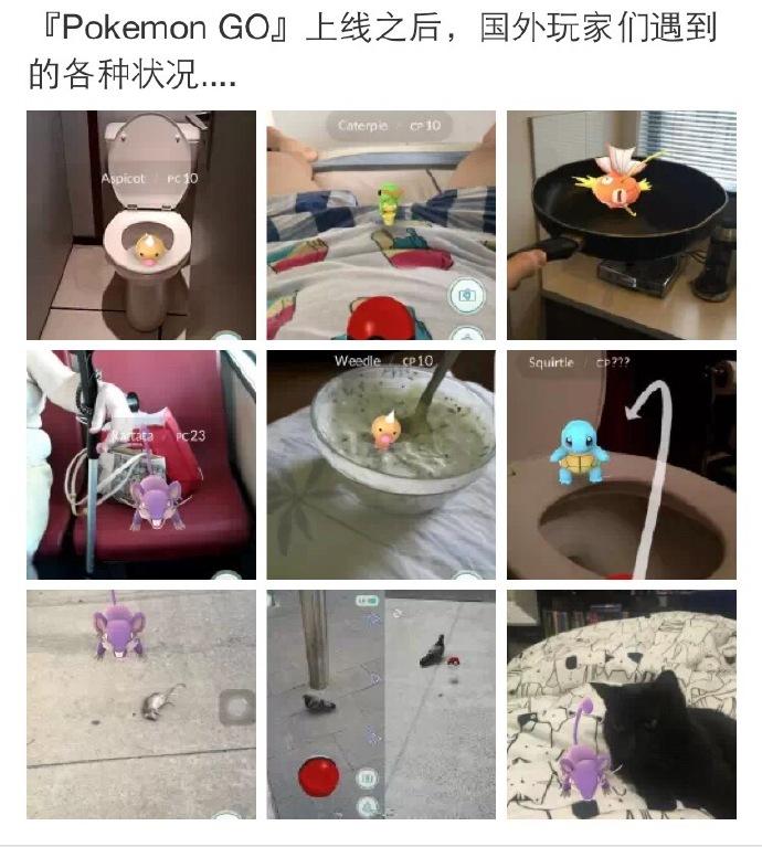 段子频出 Pokemon Go全球玩家逗趣反应合集[多图]图片1