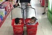 搞笑图片:爸爸下次逛超市不要带我出来我嫌丢[多图]