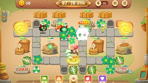 保卫萝卜3冒险模式集市46关金萝卜攻略[多图]图片4