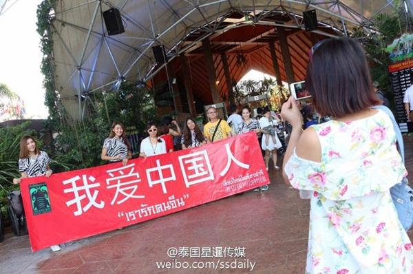 """泰国清迈现""""我爱中国人"""" 因中国游客减少[多图]图片2"""