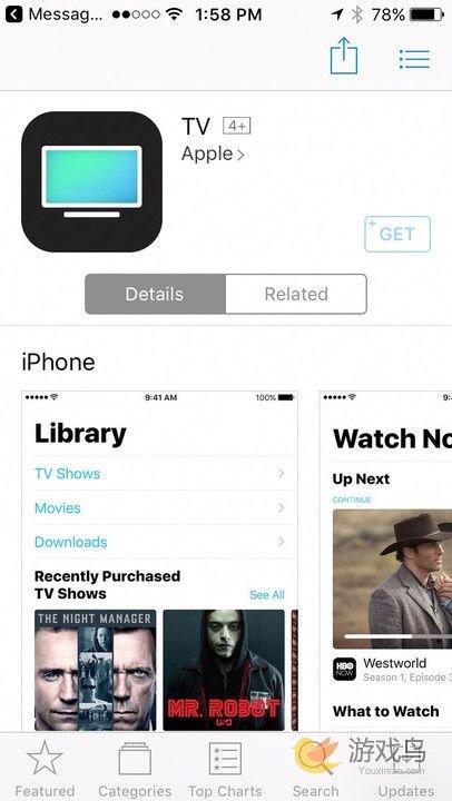 iOS10.2正式版将至?TV应用上架App Store