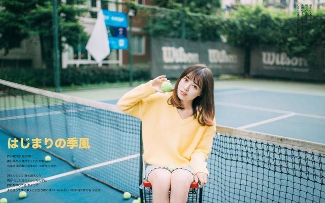 美女图片:小妹清纯甜美操场写真[多图]图片8